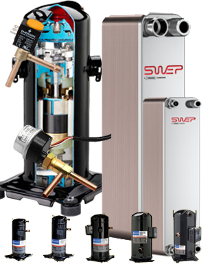Heat pump accessories and components